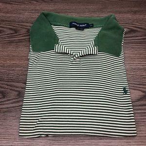 Polo Ralph Lauren Green & White Stripe Shirt XXL
